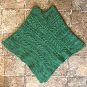 Aran Crafts Ireland cable knit poncho size L
